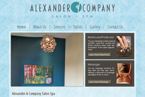Alexander and Company Salon Spa Website Development
