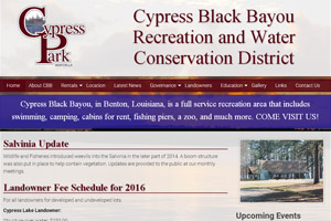 Cypress Black Bayou Website Development